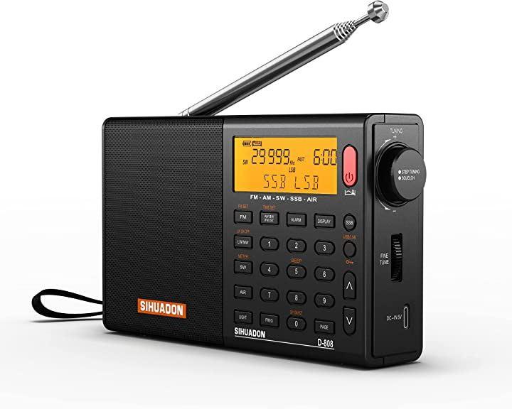 D-808 SSB BCLラジオ FM AM 短波 長波 エアバンドDSP RDS 高感度 ポータブルラジオ