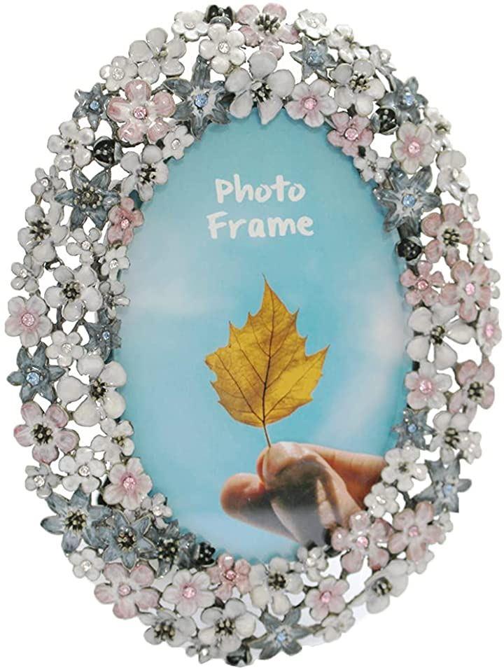 フォトフレーム 木製 写真立て おしゃれ フォトスタンド 写真縦 PF011(フラワー・大)