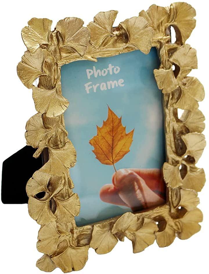 フォトフレーム 写真立て おしゃれ フォトスタンド 写真縦 PF009(ゴールド)