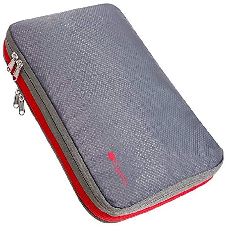 圧縮バッグ 旅行 圧縮袋 旅行圧縮バッグ トラベルグッズ 最新 「縫製強化・日本製ダブルジッパーモデル」(グレー)