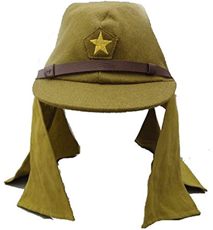 軍帽 帽垂れ有 レプリカ 下士官 旧 日本 戦闘 帽子 制帽 精密 複製 コスプレ(59cm)