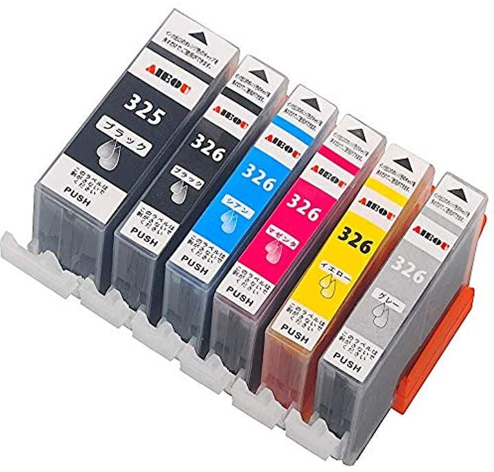 キャノンインクカートリッジ326 canonインク326 bci-326 bci-325 互換インク/6色マルチパック/大容量/純正品と併用可能/ICチップ/残量表示/保障付/mg8230/mg8130/mg6230/mg6130