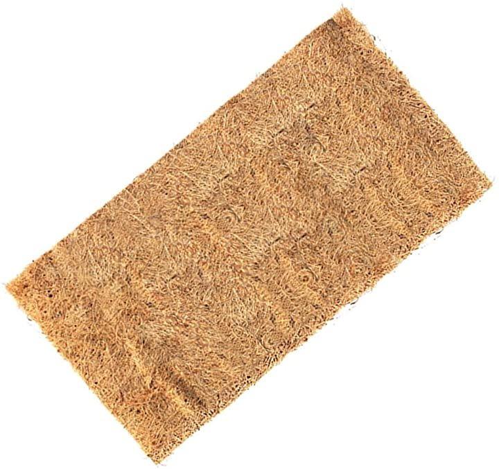 ココナッツマット 床材 大型 80×40cm 爬虫類 昆虫 リクガメ 両生類 飼育 底砂 ペットマット パッド(茶色)