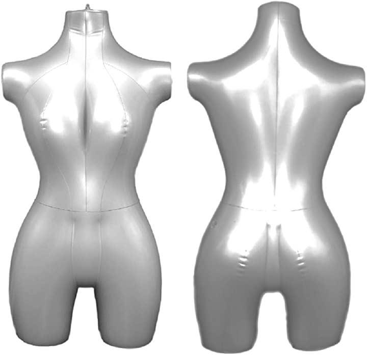 エアートルソー 女性 ビニール マネキン 空気 式 折りたたみ コンパクト 収納 上半身(女性 上半身, 半身)