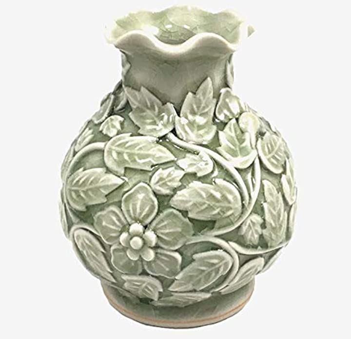 セラドン焼 花瓶 9.5cm