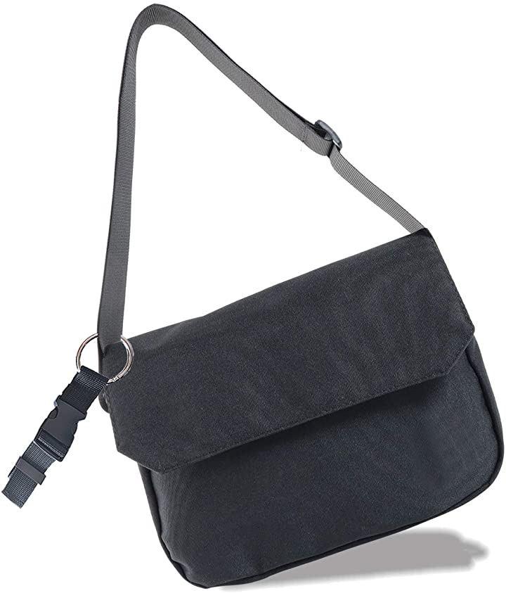 ショルダーバッグ メンズ 小さめ 斜めがけ ワンショルダー バック ミニ ちょうどよいサイズ 7ポケット iPad9.7インチ収納 ジャケットフォルダー との2点セット(ブラック)