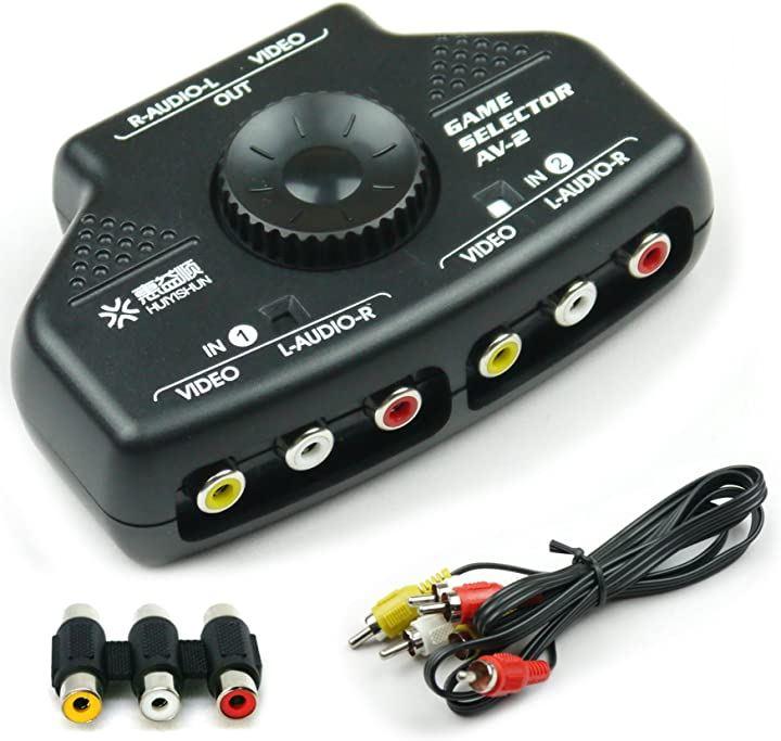 簡単切替 2ポート AV切替機 ビデオ セレクター KR-SEL002(ブラック)