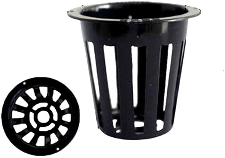 水耕栽培 ポット 育苗 キット 鉢 スポンジ セット 黒 高さ55mm 30個(30個セット)