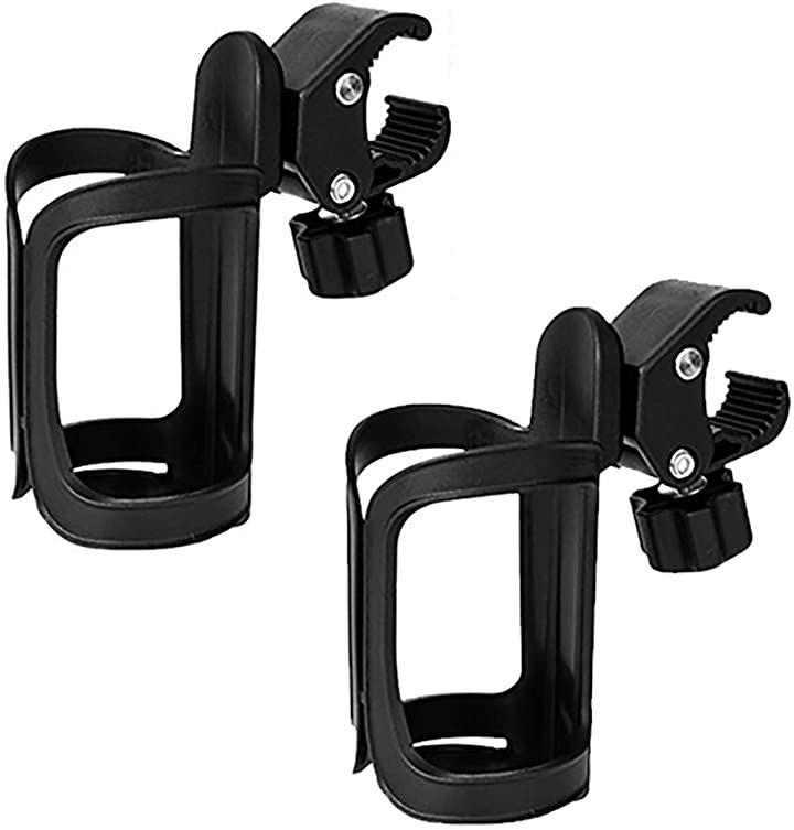 ドリンクホルダー 自転車 ハンドル 黒 ペットボトル ボトルゲージ 2個セット(ブラック)