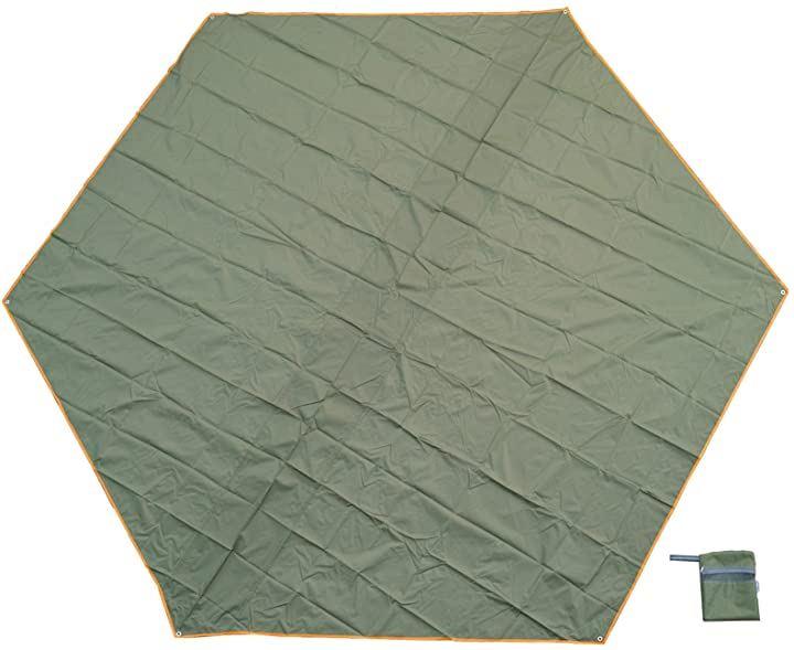 グランドシート ヘキサタープ キャンプ 380×330(緑400)