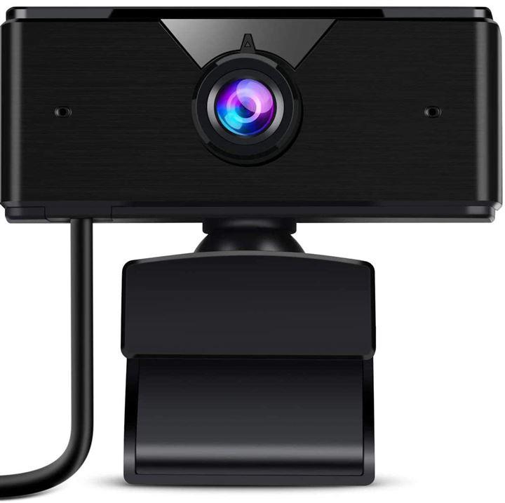 ウェブカメラ Webカメラ マイク内蔵 オートフォーカス 1080P フルHD 200万画素 75°画角 自動光補正 360°調整可能 会議用 オンライン会議 広角 USB 小型 ウェブカム(black, s)