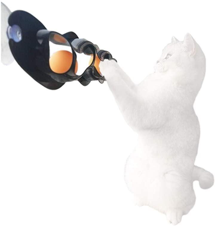 BEATON JAPAN 猫 おもちゃ ボール ダイエット ひとり遊び 窓 吸盤 グレー 日本 知育玩具 キャットトレイン