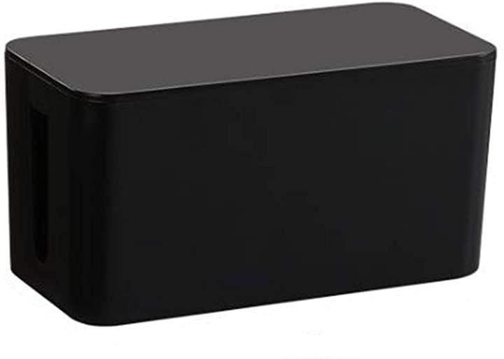 ケーブル管理ボックス コード隠しボックス S、ブラック