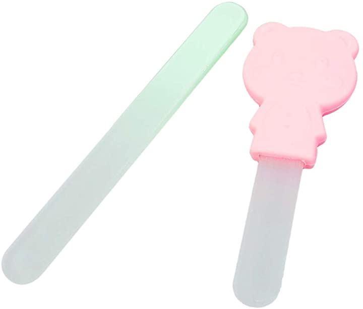 LUCINA 口コミで話題。 肌を傷つけない 赤ちゃん 爪やすり ガラス製 両面タイプ 2種セット