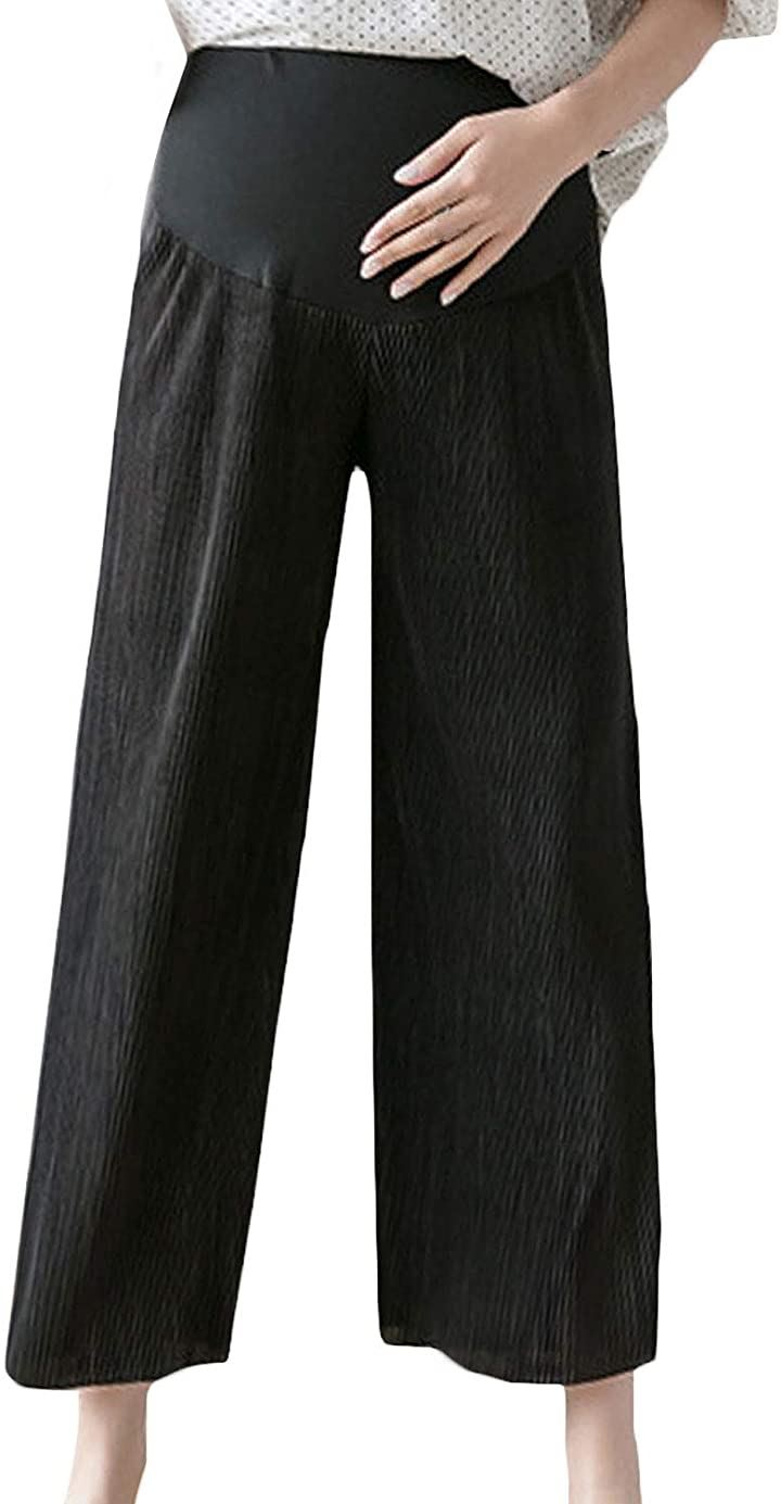 マタニティ パンツ ズボン 大きいサイズ ブラック M(ブラック, M)
