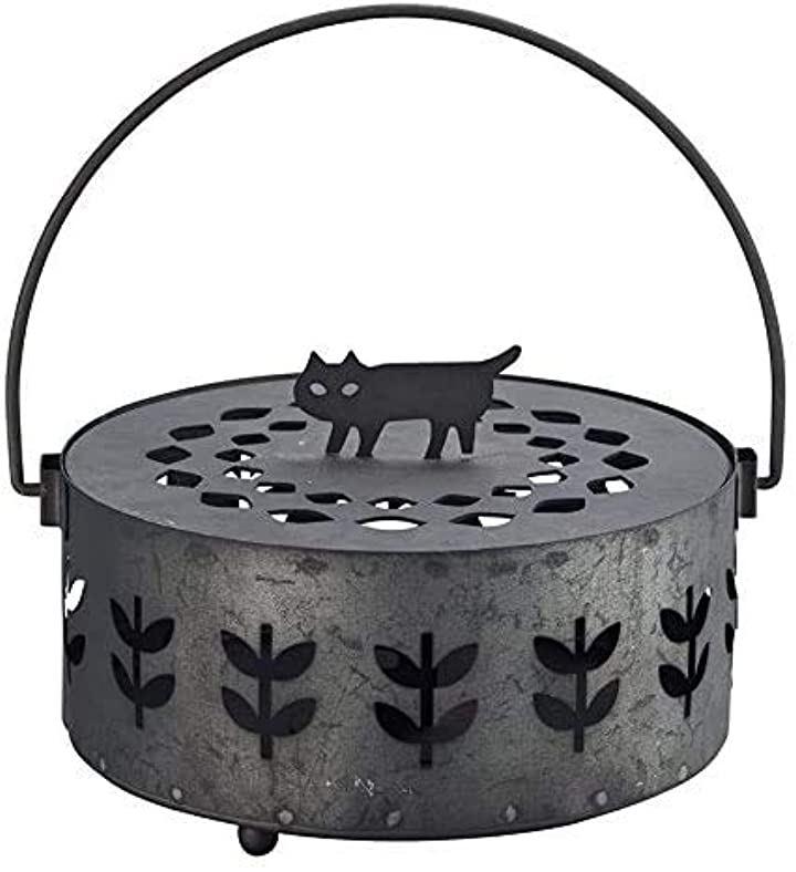ブリキ蚊取線香立て 猫 防蚊 蚊遣り箱 STD173AA