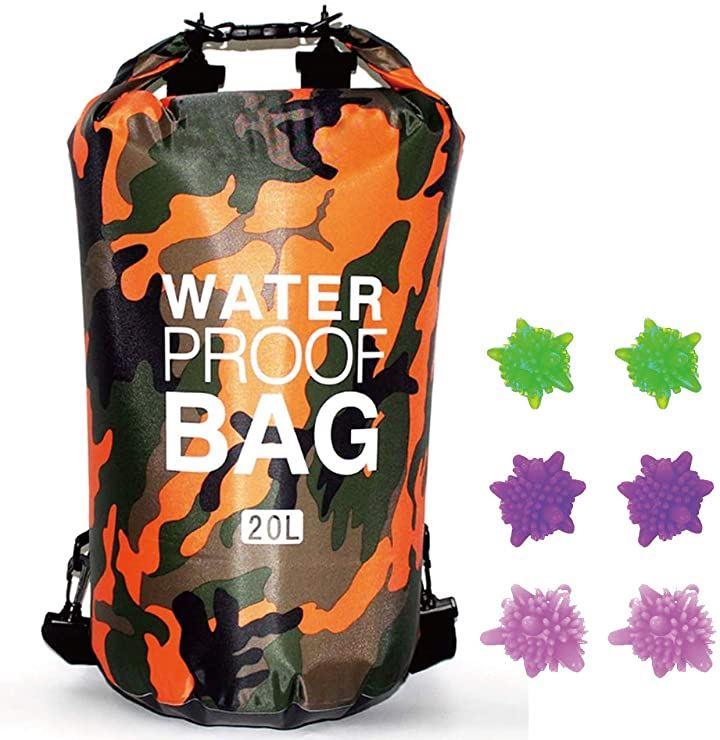 洗濯袋 トラベル用品 防水 洗濯バッグ 折りたたみ 旅行 携帯 ランドリー(20Lオレンジ)