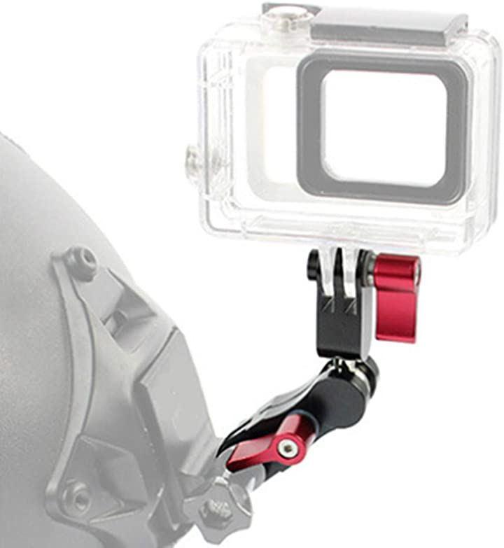 2020年 最新型 GoPro アームマウント 360度回転 NVG サバゲーヘルメット カメラマウント Hero 8 7 5 4 適合 webカメラ 黒(黒)