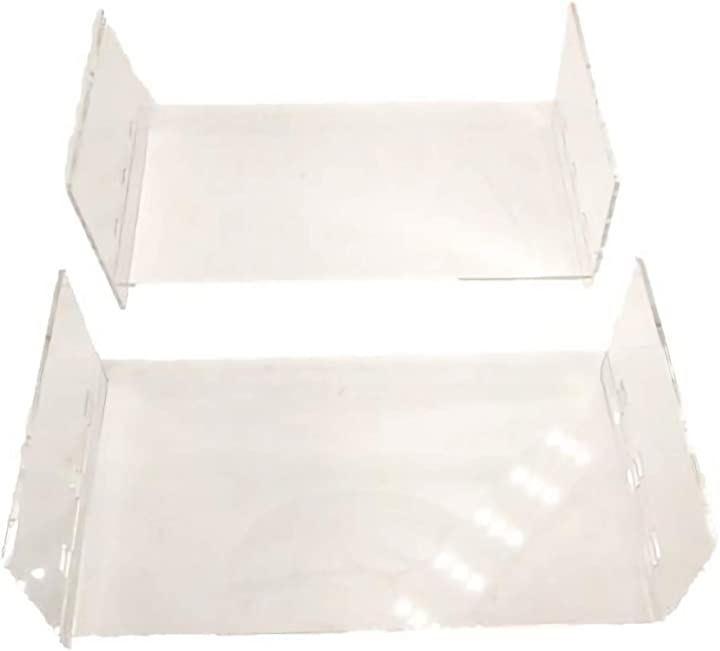 ミニ四駆 ポータブルピット 仕切り板 ボックス 用 アクリル 3段 保管 保存 コレクション 高さ 調節(クリア)