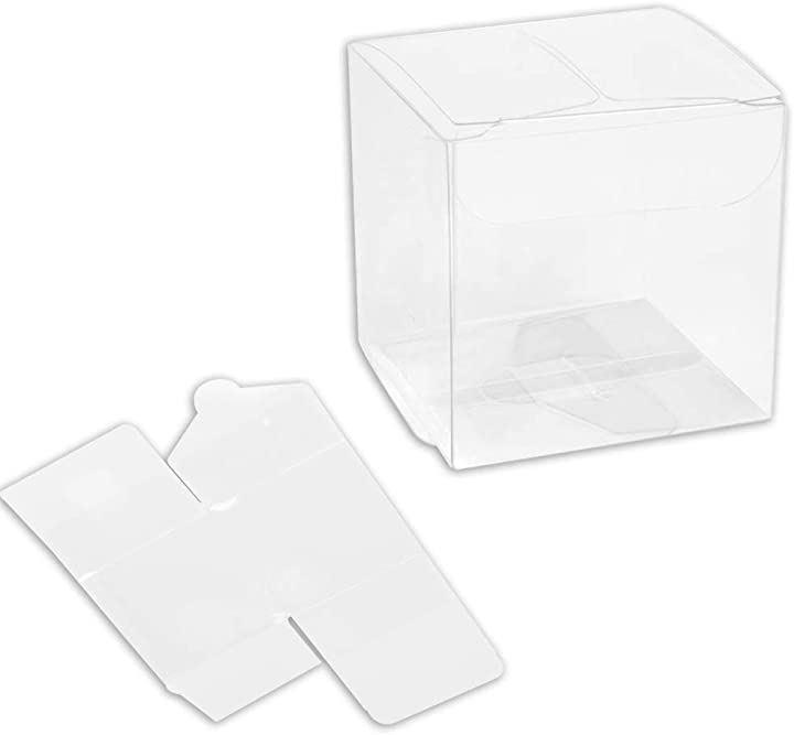 Puebloen 折り畳み 透明プラスチックケース 60個セット PVC ギフト ボックス プレゼント