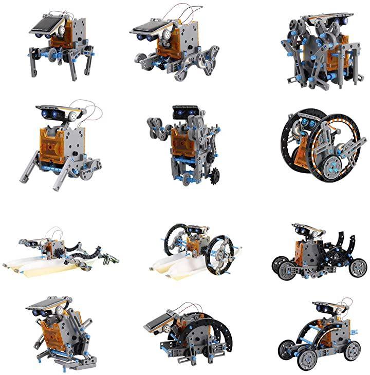 ペコモモワールド 太陽光発電 ソーラーパワー 工作ロボット 作成キット 変形 12種類 組み立て 実験 科学
