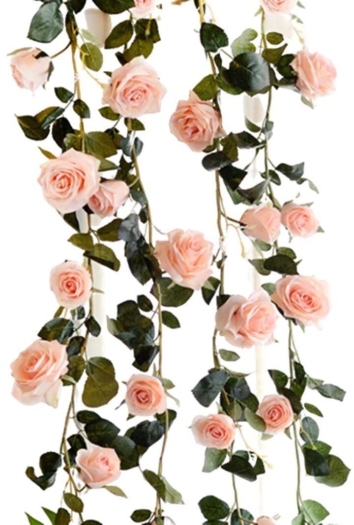 バラ 薔薇 ローズ 造花 フラワー イベント 装飾 デコレーション パーティー(ピンク)