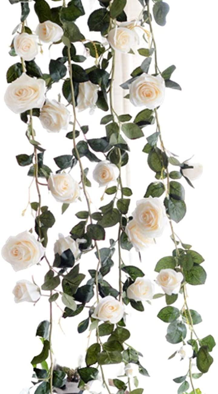 バラ 薔薇 ローズ 造花 フラワー イベント 装飾 デコレーション パーティー(ホワイト)