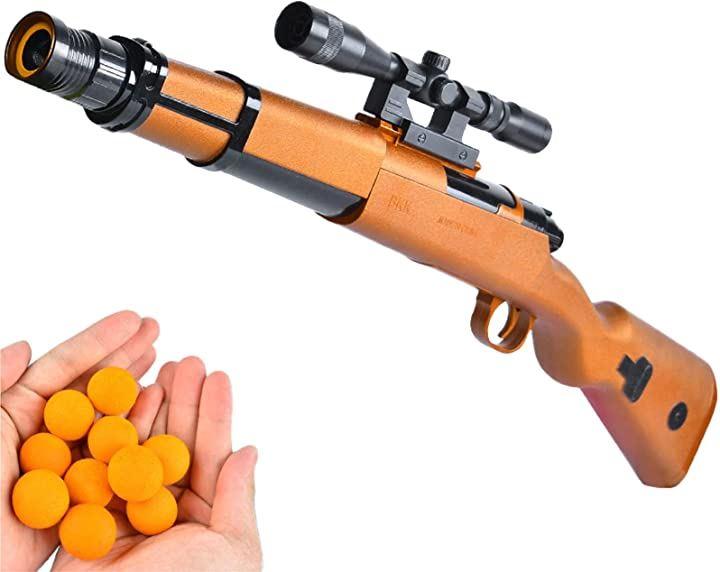 おもちゃ 銃 子供 スコープ 音 ポッパーガン 射撃 射的 スポンジ玉個9付き セット