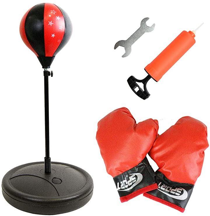 パンチングボール ボクシンググローブ 高さ調節可能 練習 トレーニング キッズ用