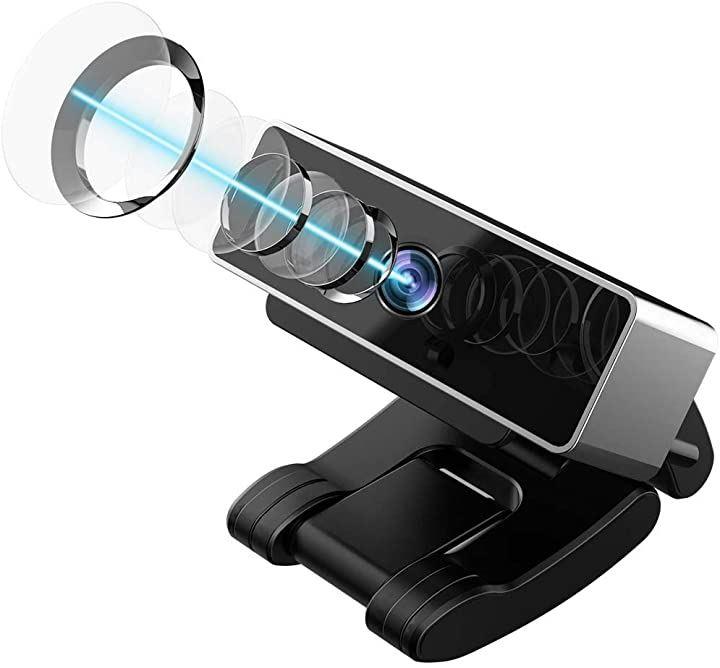 ウェブカメラ フルHD 1080P 25FPS 200万画素 広角60° Webカメラ マイク内蔵 オートフォーカス 自動光補正 USBカメラ 小型 ブラック(B)