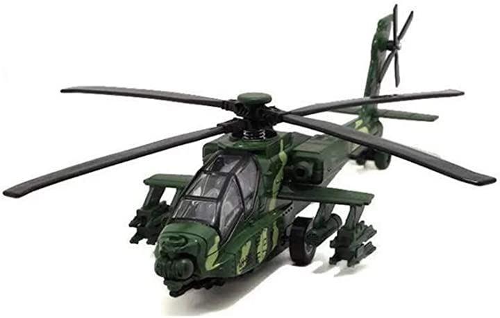 ヘリコプター 戦闘機 おもちゃ 玩具 完成品 子供 ライト サウンド プレゼント 模型(#3)
