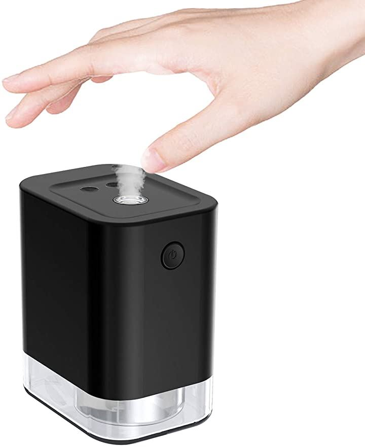 アルコールディスペンサー 自動 自動ディスペンサー 45ml USB充電式 霧吹き ボトル 噴霧器 アルコール対応 スプレー手洗い用 学校 病院 玄関 など公共の場所に適用 日本語取扱説明書付き black(black, 45ml)