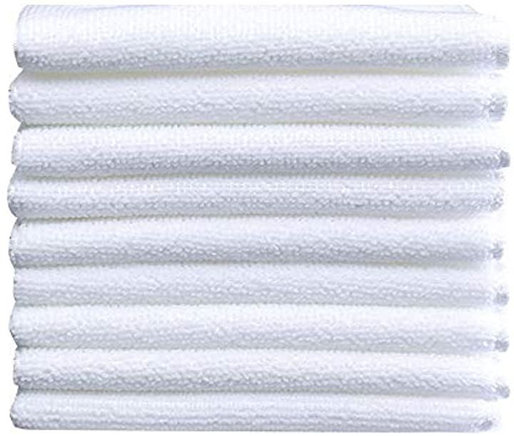 スクエアタオル レストラン ホテル 使い捨て 白 30cmx30cm 100枚入り(ホワイト)