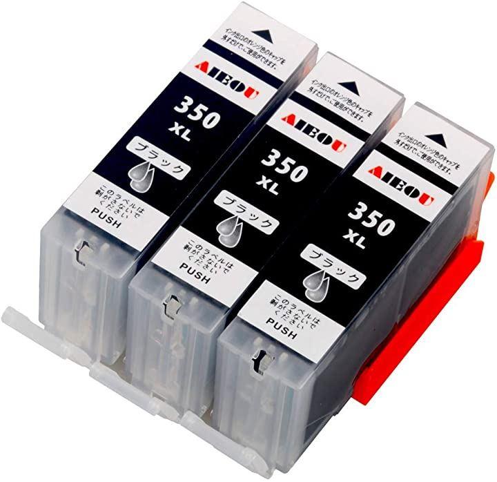 キャノンインクカートリッジ350 canonインク350 bci-350pgbk 互換インク/ブラック3個/大容量/純正品と併用可能/ICチップ/残量表示