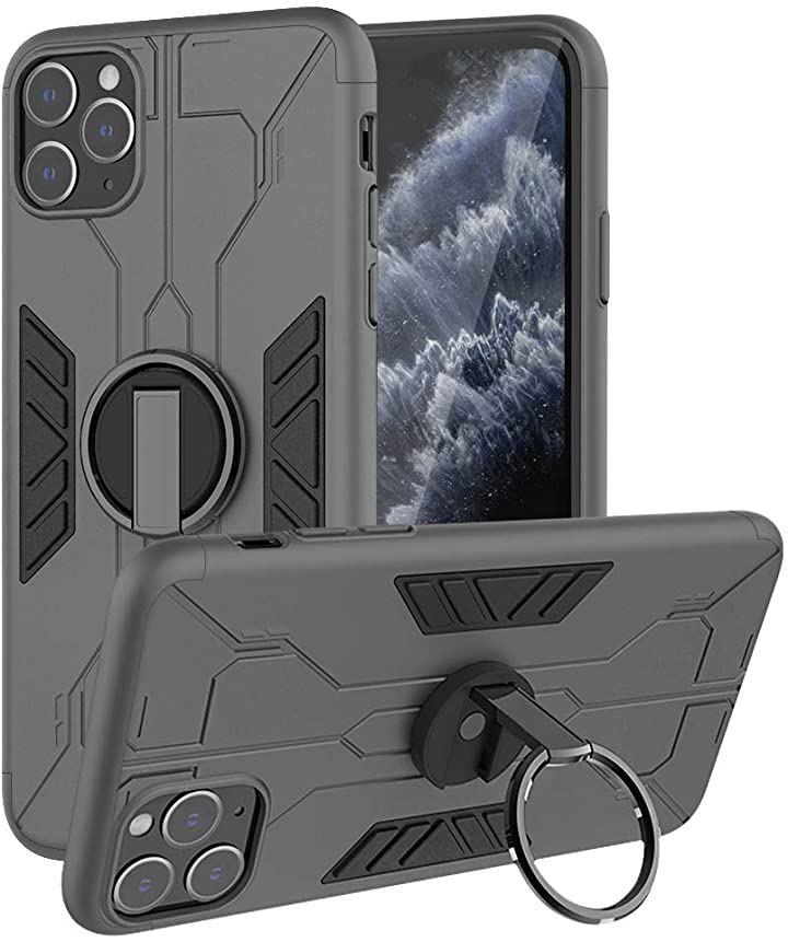 IPHONE 11 PRO MAX 6.5 ケース , リング付き シリコン スマホケース 耐衝撃 アイフォン11 人気 携帯カバー 車載ホルダー対応