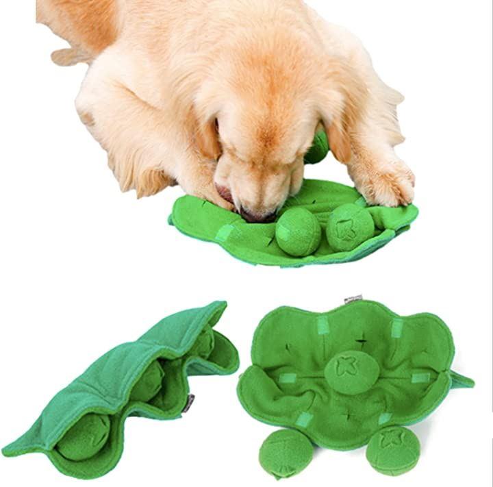 SHAKA LABO ノーズワーク 犬 ペット おもちゃ しつけ 嗅覚 訓練 ペット用品 えんどう豆(全長31cm 幅23cm 高さ8cm)