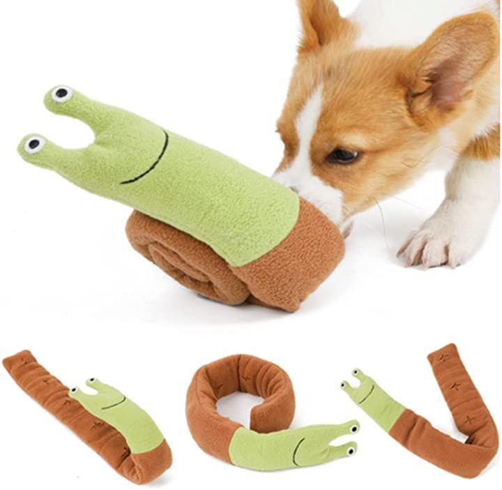 SHAKA LABO ノーズワーク 犬 ペット おもちゃ しつけ 嗅覚 訓練 ペット用品 カタツムリ(全長72cm 幅7.5cm)