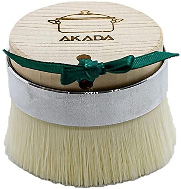 キッチンブラシ 食器洗い たわし スポンジ 傷防止 極細アクリル繊維 豚毛 ひのき 衛生的 サステナブル フライパン ざる まな板を洗うのに最適