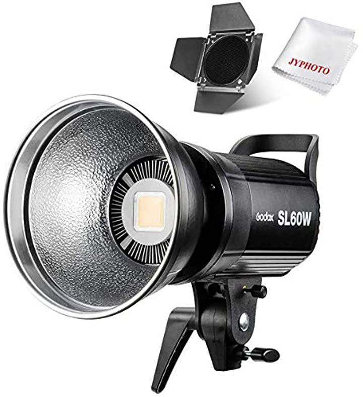 SL-60W LEDビデオライト ボーウェンスマウント CRI95+ Qa>90 5600±300K BD-04バーンドア同梱