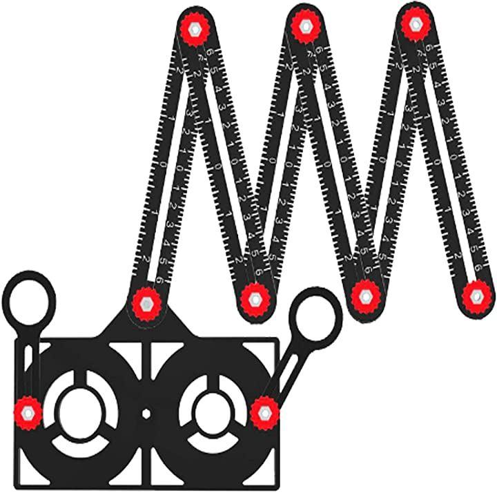 自由スコヤ 六角定規 けがき定規 折尺 折りたたみ定規 長い 測定定規 ロケーター