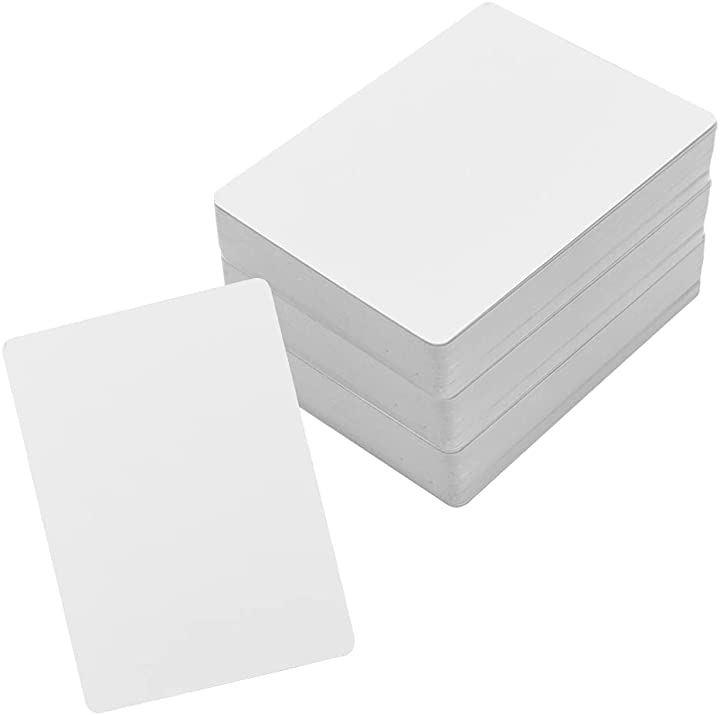 空白トランプ カードゲーム ポーカー マット仕上げ オリジナル イラスト 白紙 無地 180セット