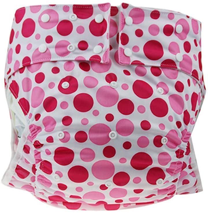 大人用 かわいい オムツ カバー フリーサイズ TOKYO GOODS MARKET(水玉赤ピンク, フリーサイズ)