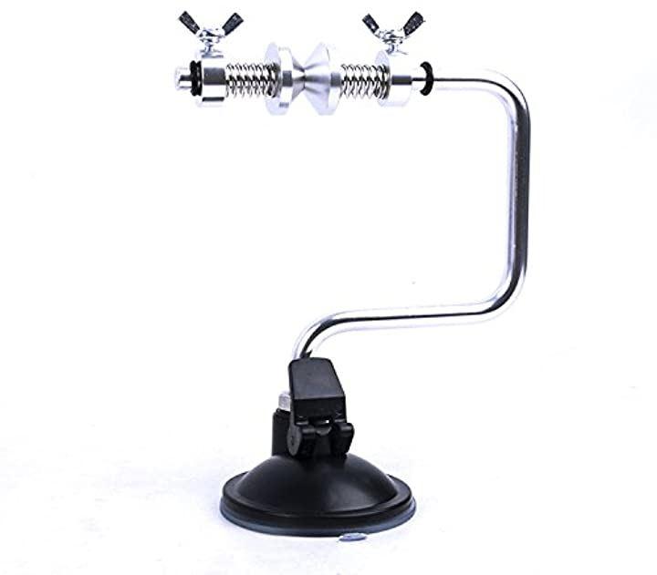 吸盤ロック式 簡易 釣り糸 ライン巻き取器 ラインワインダー(銀、黒)