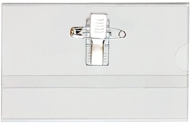 名刺型 名札 100枚セット 50枚入x2セット 安全ピン・クリップ両用タイプ GWM-100
