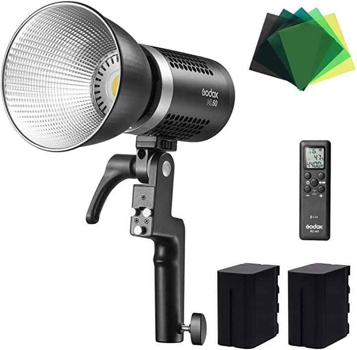 ML60 手持ち式LEDビデオライト 60W 5600K 昼光バランス 撮影補助光(ML60)