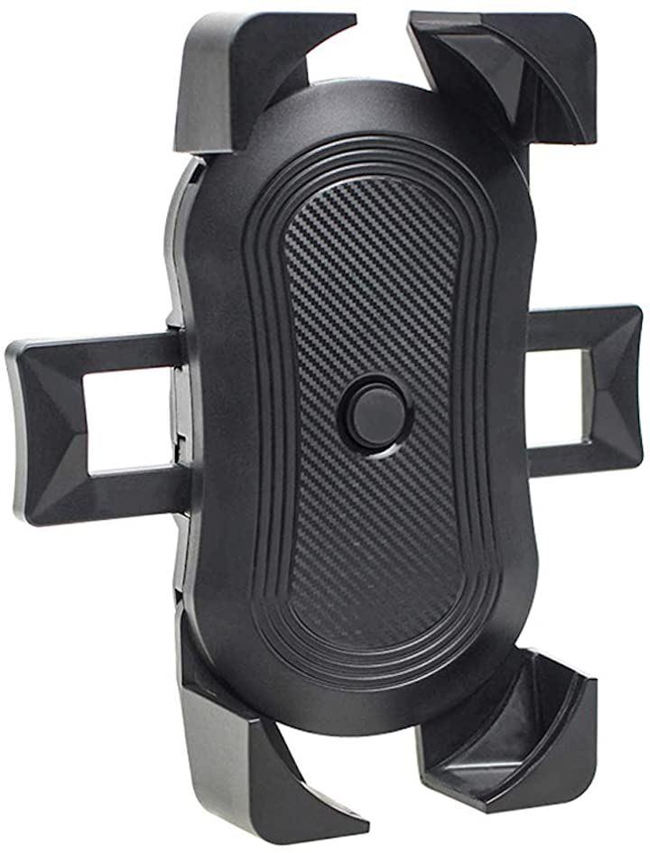 バイク 自転車 ハンドル巻き付け式 汎用 スマホ ホルダー(A・ブラック)