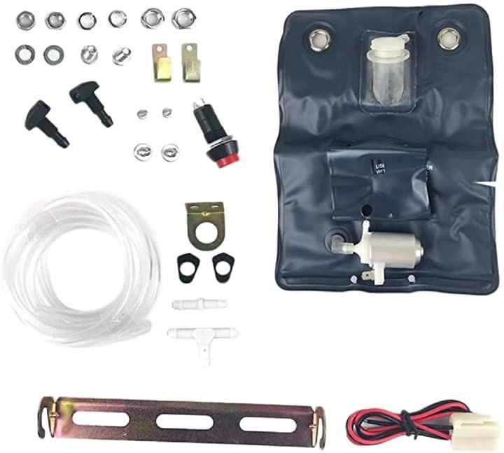 汎用 12V ウォッシャー タンク ウォッシャーポンプ カンガルー タイプ ウォッシャーバック インタークーラー 冷却